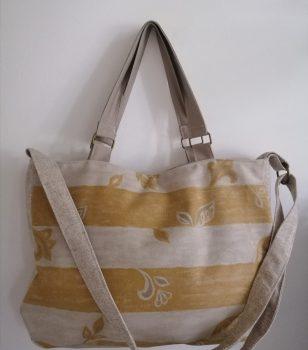 Drapp csíkos táska
