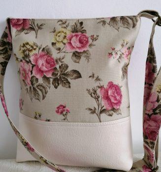 Rózsamintás női táska