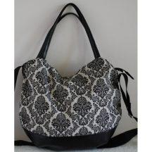 Fekete-fehér mintás női táska