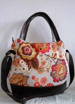 Virágmintás női táska