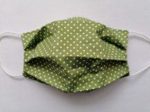 Zöld pöttyös maszk